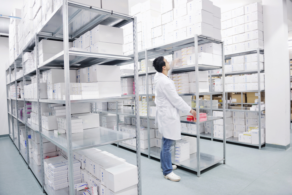 medical factory  supplies storage indoor with workers people-4